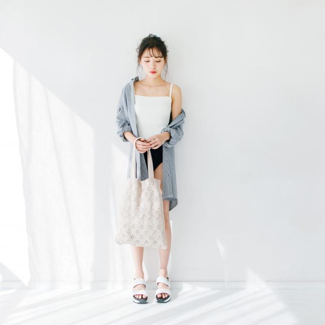 バイカラーワンピース水着(全1色)[100S]