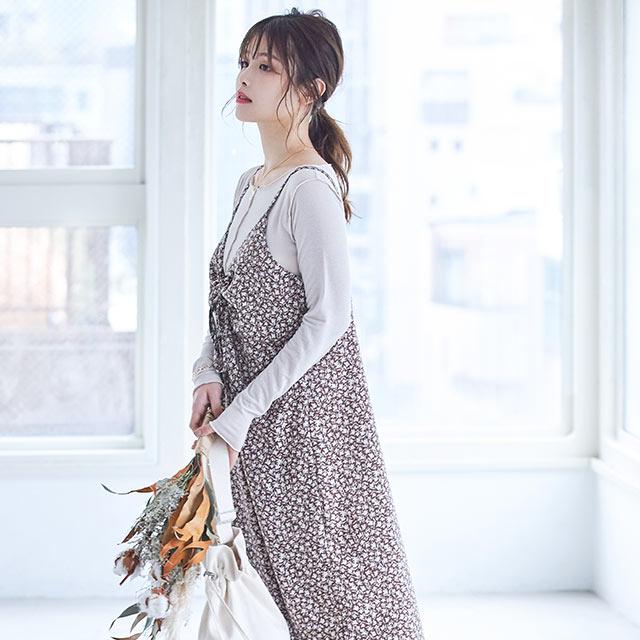 【2/25(Tue)19:00~】flower camisole onepiece[1011E]