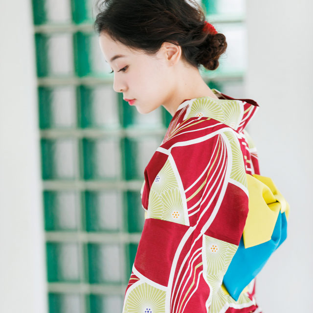綿麻変わり織り浴衣(全2色)[101X]