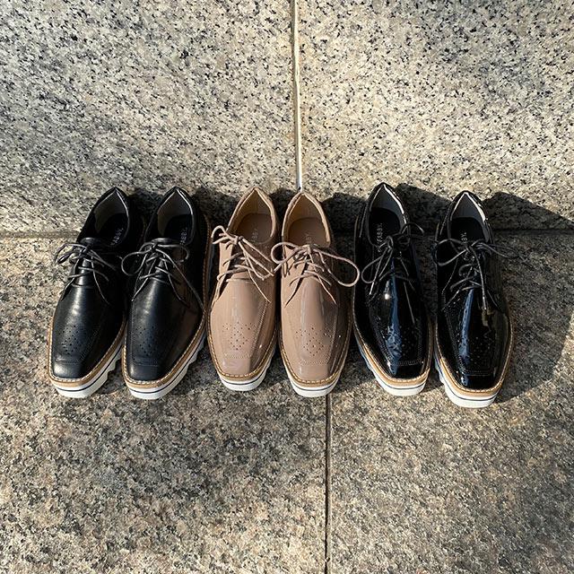 platform lace-up shoes[1029I]