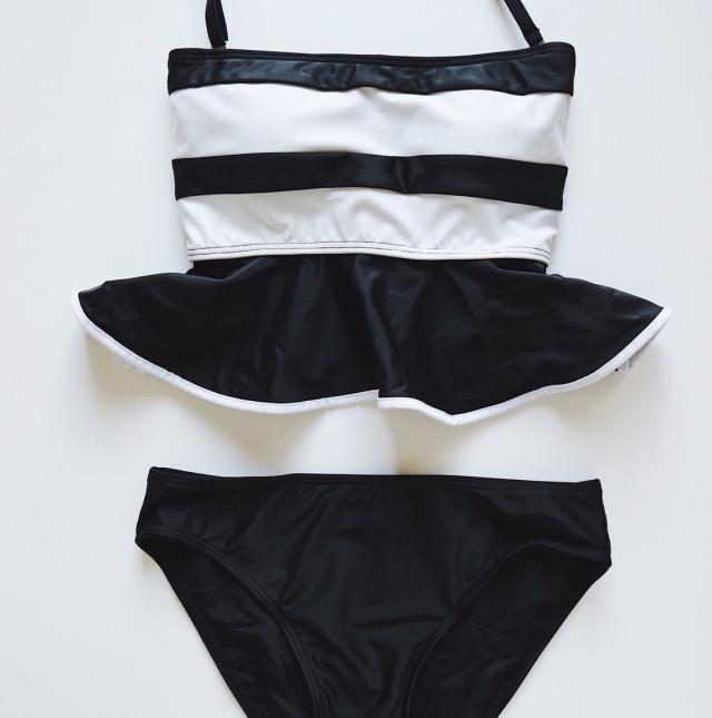 peplum border bikini[102S]