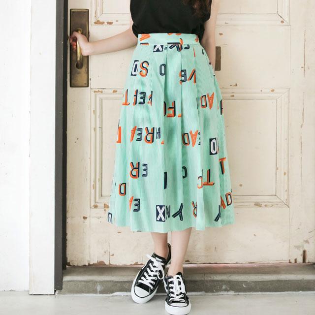 ストライプロゴスカート(全2色) [103M]【7月下旬予約】