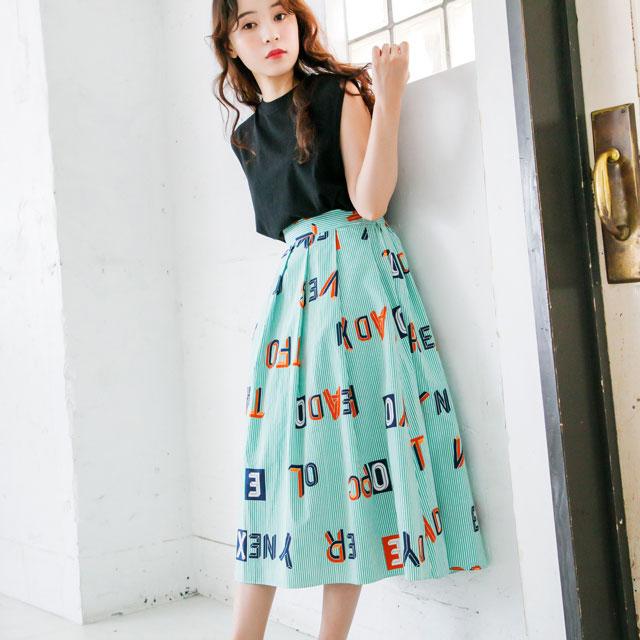 ストライプロゴスカート(全2色) [103M]