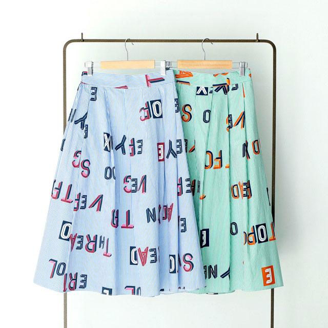 <Summer Sale!!>striped logo skirt [103M]