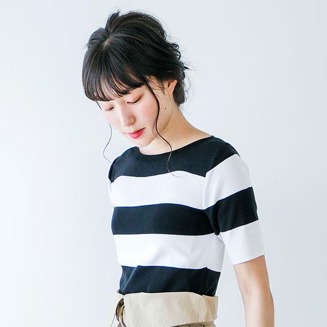 crew neck short sleeve knit [104C]