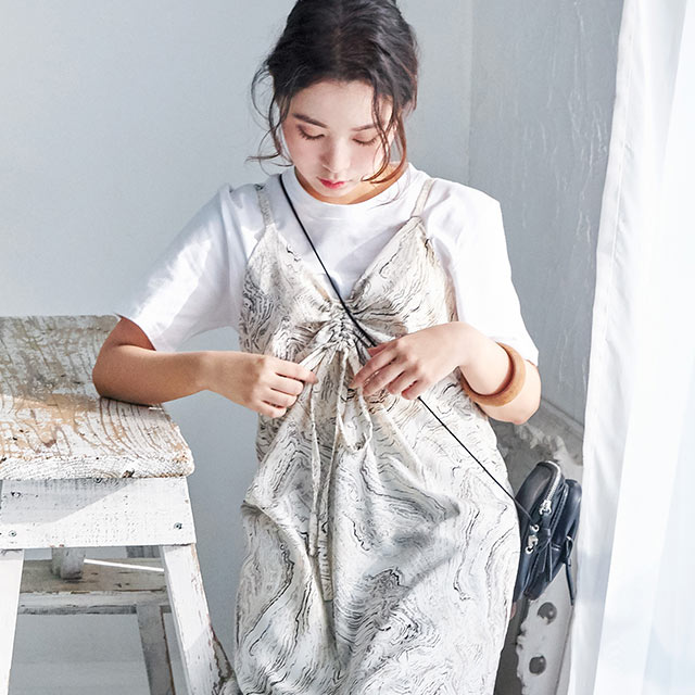 <Summer Sale!!>patterned camisole onepiece[1067E]