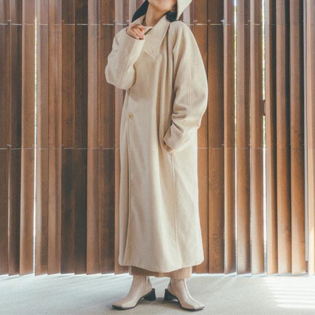【田中芽衣×Isn't She?】ビッグスタンドカラーロングコート[1072K]【11月中旬予約】