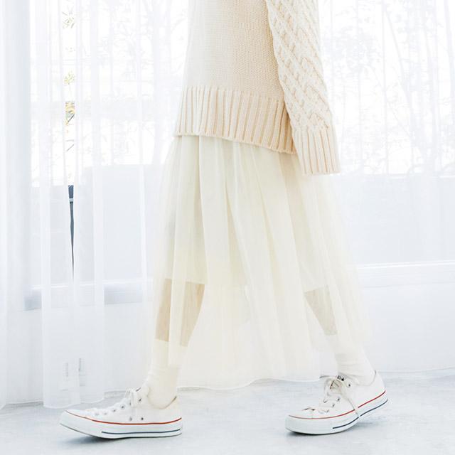 チュールスカート(全2色)[1079M]
