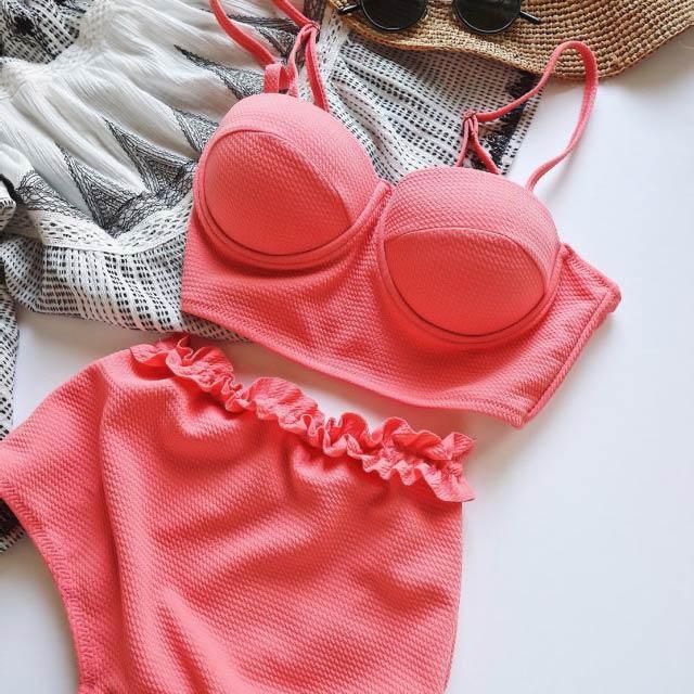 <Summer Sale!!>ruffle pants bikini[107S]
