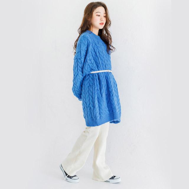 high waist corduroy pants[1127M]