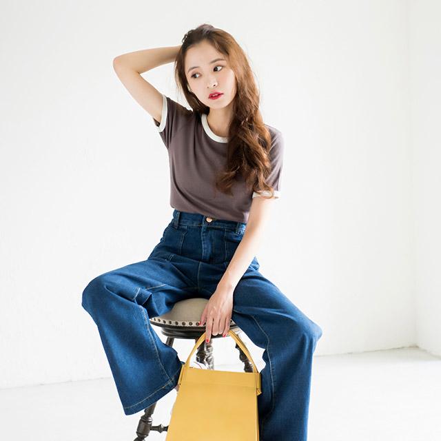 バイカラーTシャツ(全2色)[112C]