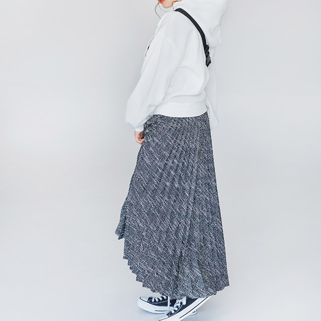 ツイードプリーツスカート(全2色)[1138M]