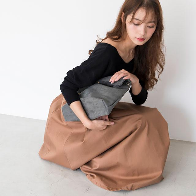 【★mina5月号掲載+チノタックマキシスカート(全2色)[114M]