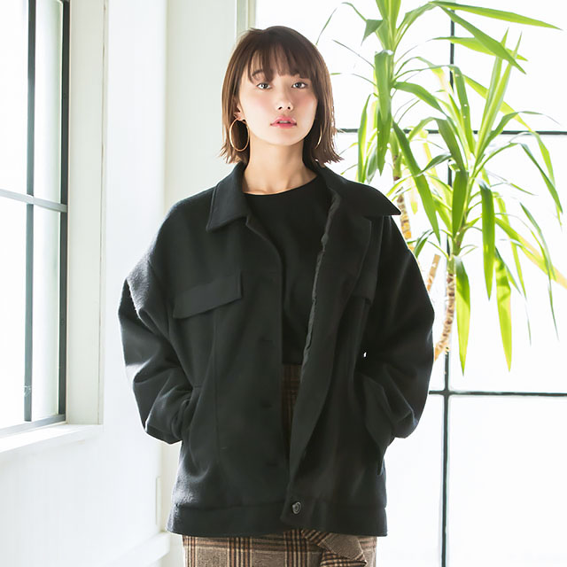 front button half coat[116K]