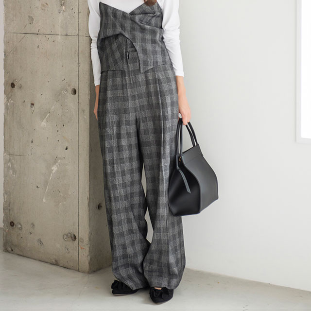 side pocket wide pants[116M]