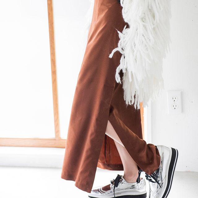 ベロアタッチタイトスカート(全2色)[117M]【7月下旬予約】