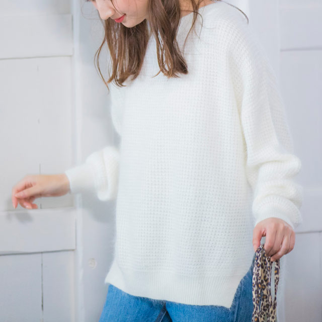 <CLEARANCE SALE>waffle knit tops[1210C]