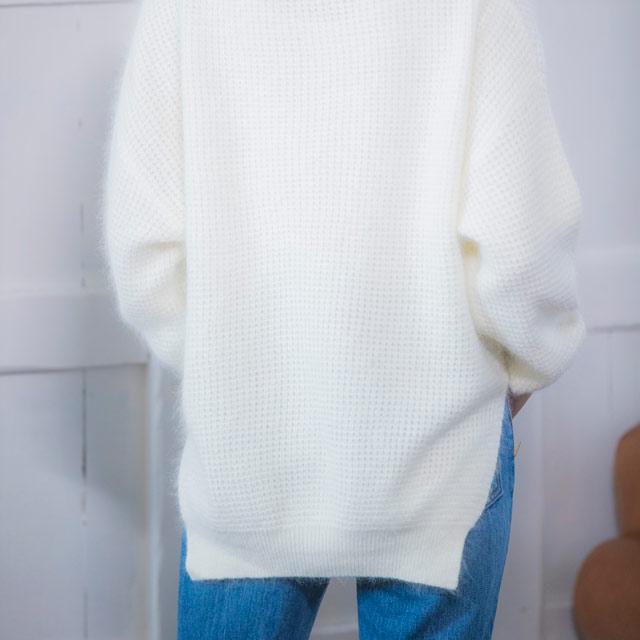 ワッフルニットトップス(全3色)[1210C]
