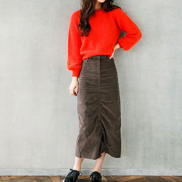 <CLEARANCE SALE>corduroy mimore skirt[122M]