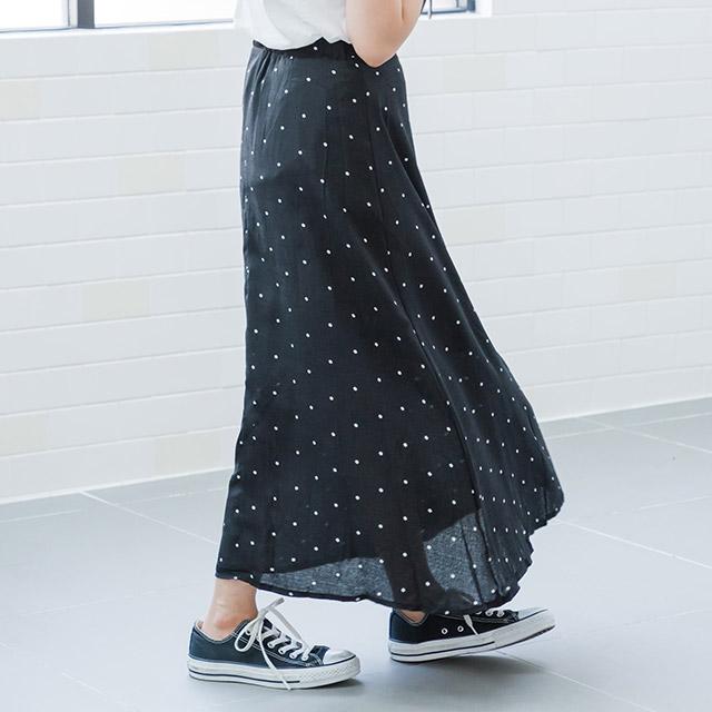 dot flare skirt[1241M]