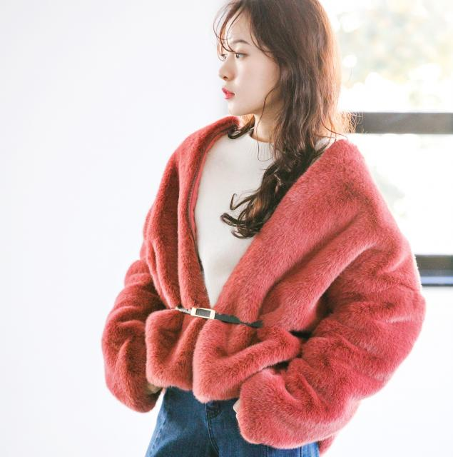 short zipper fur coat[127K]