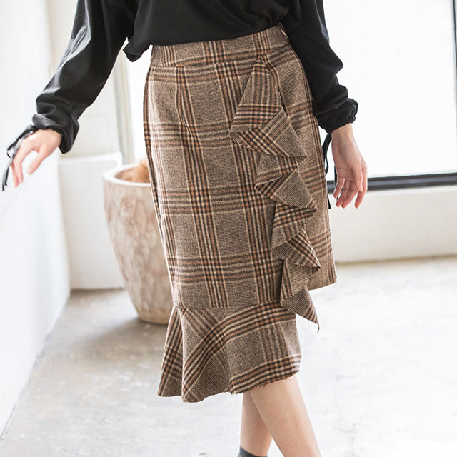 glen check skirt[128M]