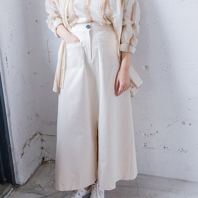 2ポケットロングスカート(全2色)[1338M]