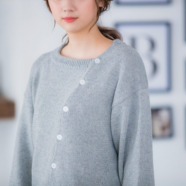 <CLEARANCE SALE>Assime button knit[1346C]