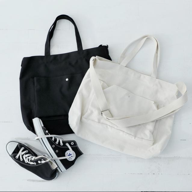 【4/22(日)19:00販売開始】2wayフロントポケットキャンパスバッグ(全2色)[135B]