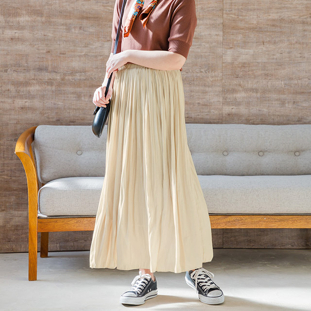 <Spring Sale>glossy pleated skirt[1362M]