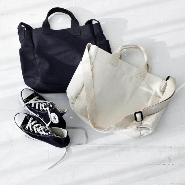 両サイドポケットキャンパスバッグ(全2色)[137B]