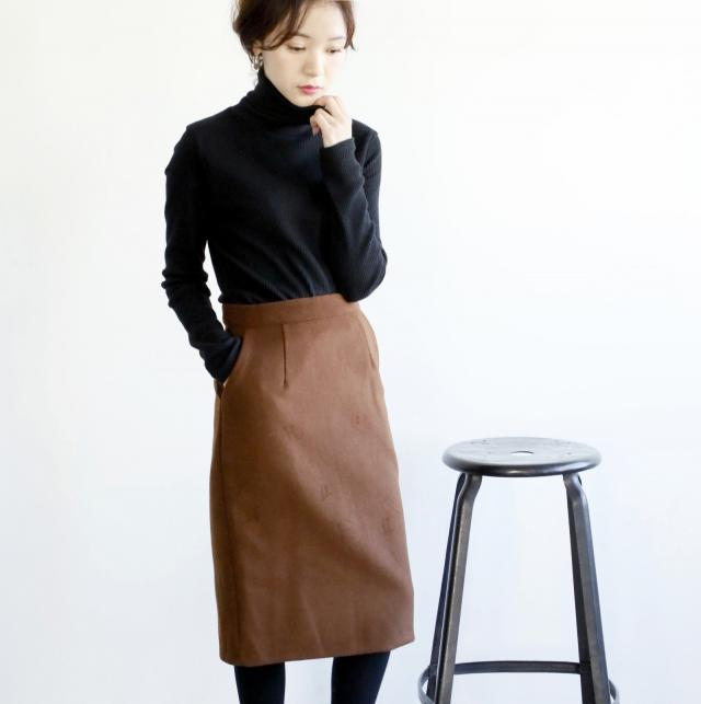 ウール混タイトスカート(全3色)[141M]