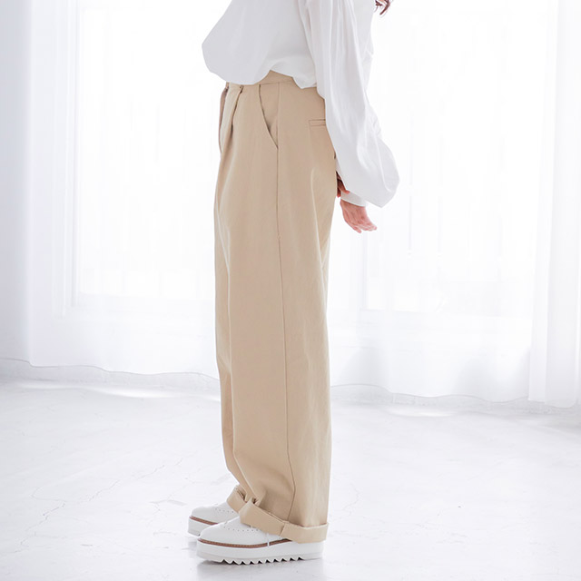 <CLEARANCE SALE>high waist cotton pants[1427M]