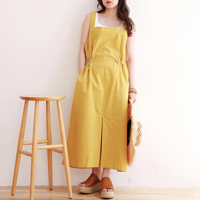 waist drawstring camisole onepiece[1438E]