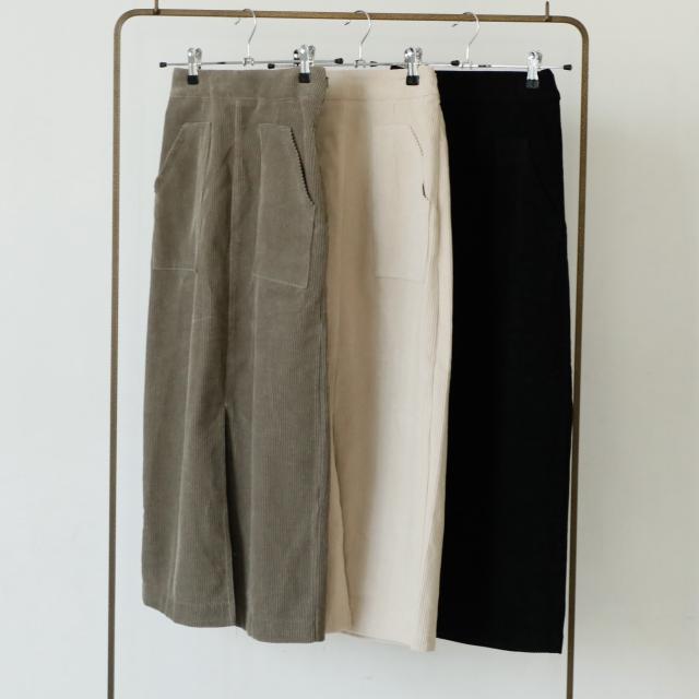 フロントスリットコーデュロイスカート(全3色)[143M]