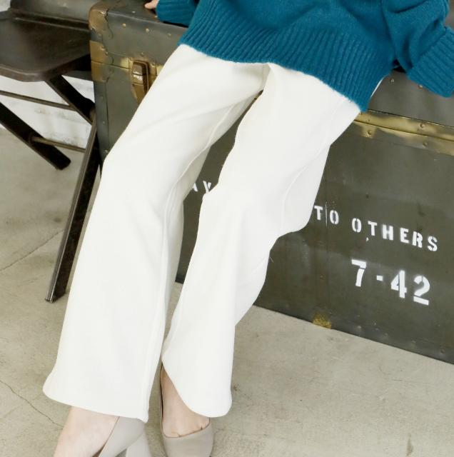 <CLEARANCE SALE>straight waist rubber knit pants[144M]