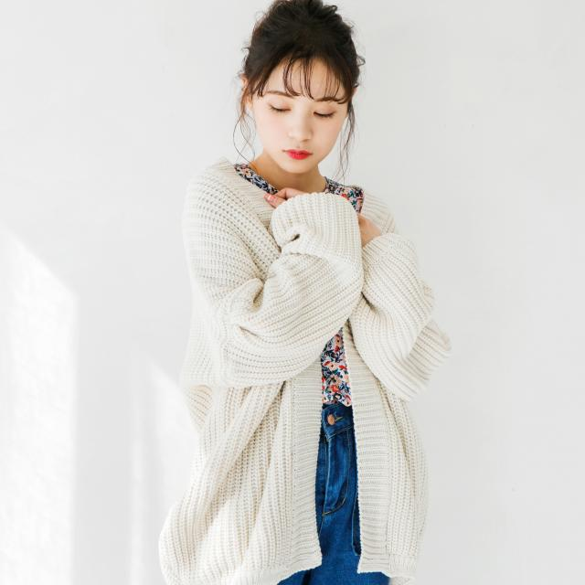 big silhouette knit cardigan[145K]