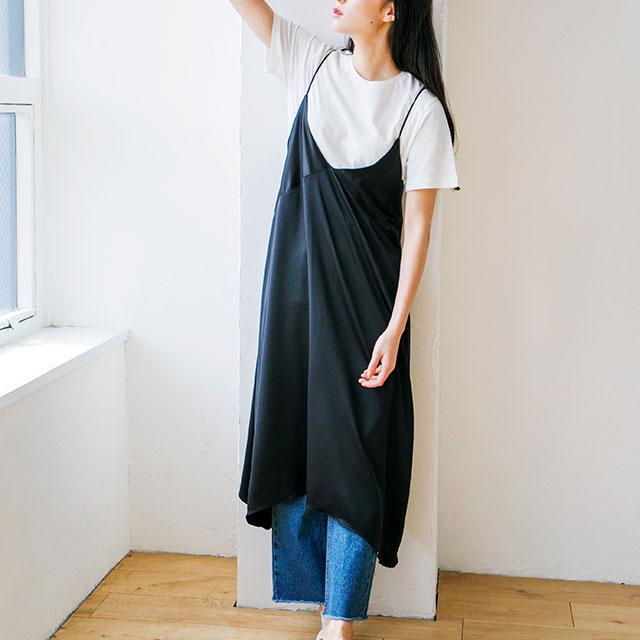 サテンキャミワンピ(全2色) [146E]