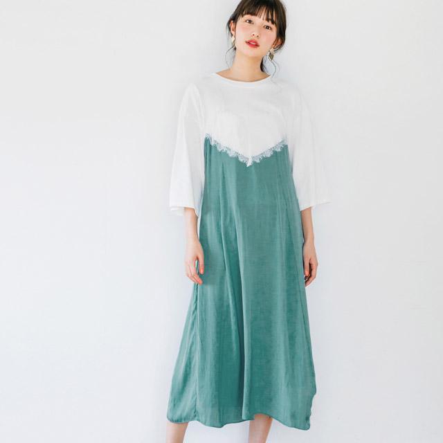 レイヤード風ワンピース(全3色)[147E]