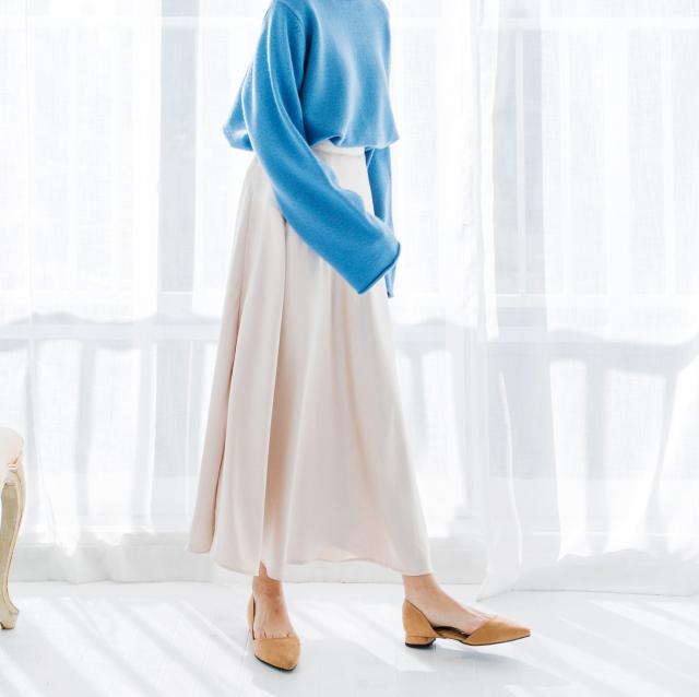 Aラインマーメイドシャイニースカート(全3色)[147M]