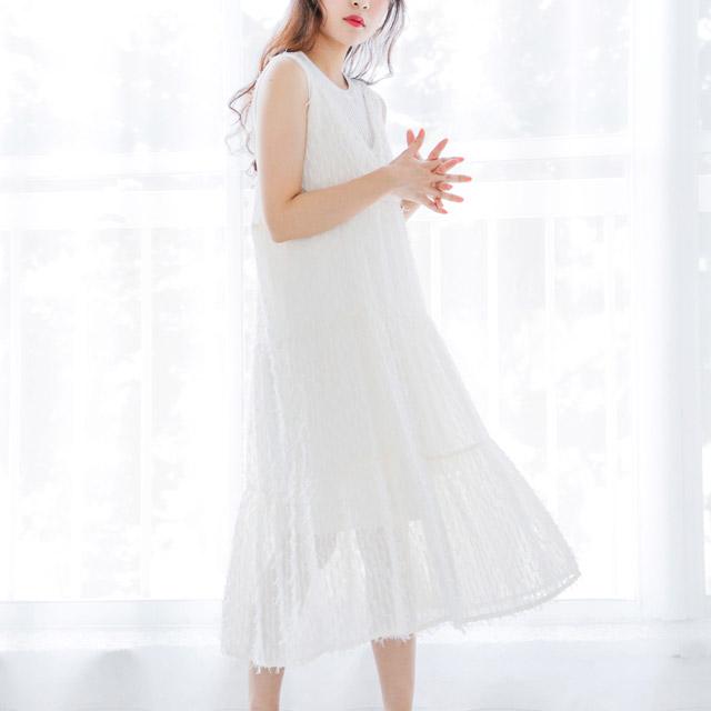 立体デザインキャミワンピ(全2色) [148E]