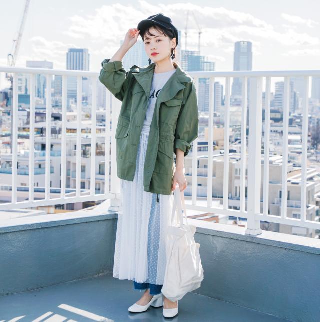 ≪FINAL SALE≫ドット柄ボリュームチュールスカート(全1色)[151M]
