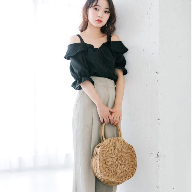 circle basket bag [153B]