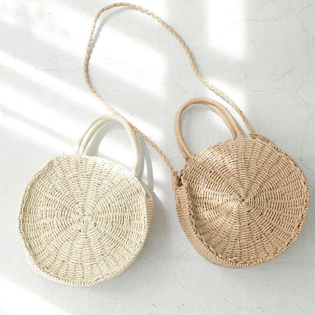 <Summer Sale!!>circle basket bag [153B]