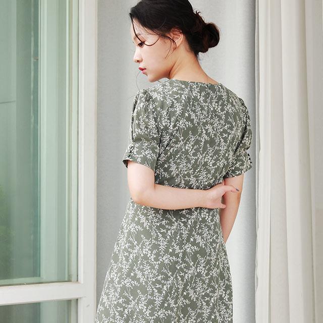 【MERY × Isn't She】waist tuck flower onepiece[1557Z]