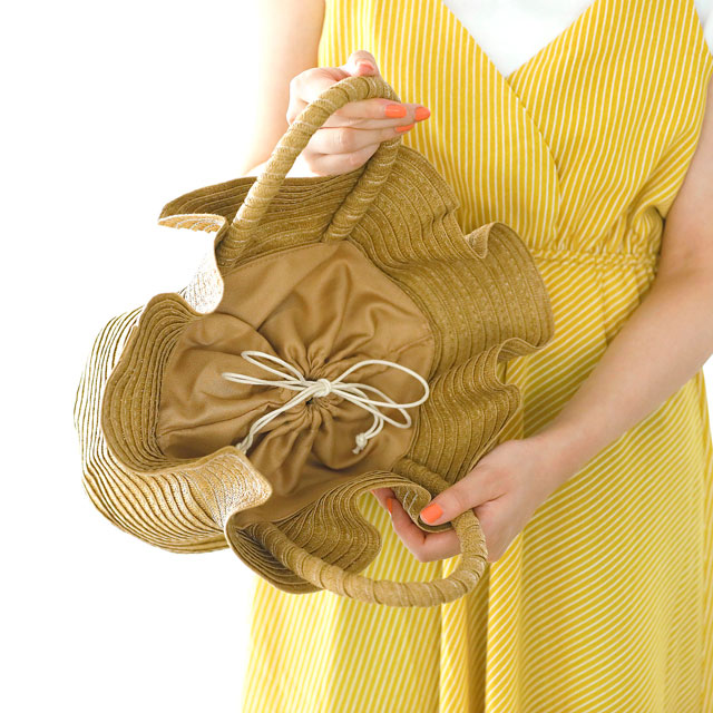 frill basket bag [157B]