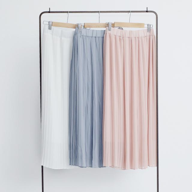 [mina7月号掲載]3colorシフォンプリーツスカート(全3色)[157M]