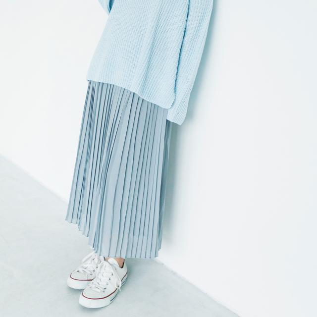 ≪FINAL SALE≫[mina7月号掲載]3colorシフォンプリーツスカート(全3色)[157M]