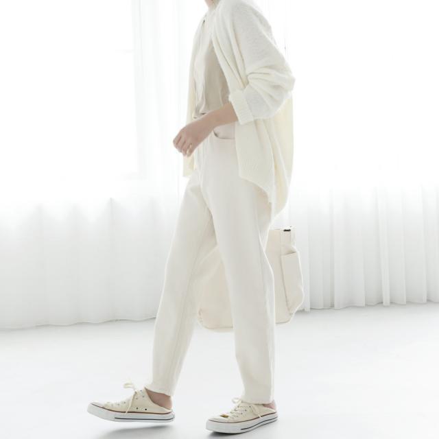 【5/20(日)19:00販売開始】ハイウエストホワイトストレートパンツ(全1色)[158M]