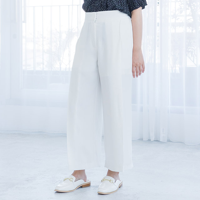 <bottom fair!!6/8(mon)am11:59まで><Sale!!>tuck high waist wide pants[1602M]